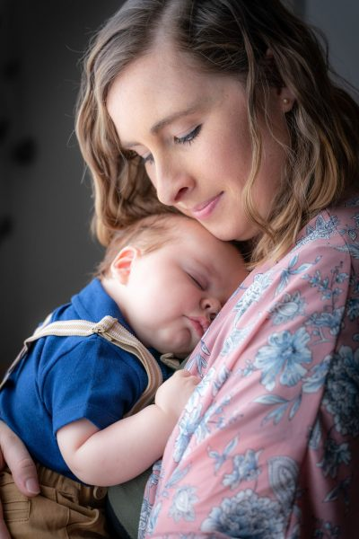 Baby Henry with Mom Amber